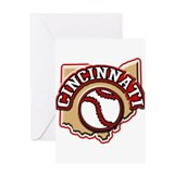Cincinnati Baseball Greeting Card