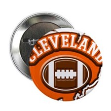 "Cleveland Football 2.25"" Button"