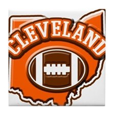 Cleveland Football Tile Coaster