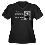 Nietzsche 35 Women's Plus Size V-Neck Dark T-Shirt