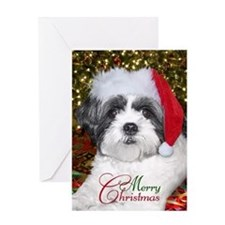 Christmas Shih Tzu Greeting Card