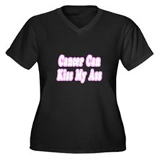 """Cancer Can Kiss My Ass"" Women's Plus Size V-Neck"