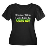 Stand OutWomen's Plus Size Scoop Neck Dark T-Shirt