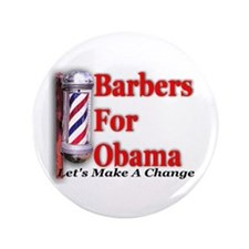 "Barbers For Obama 3.5"" Button"