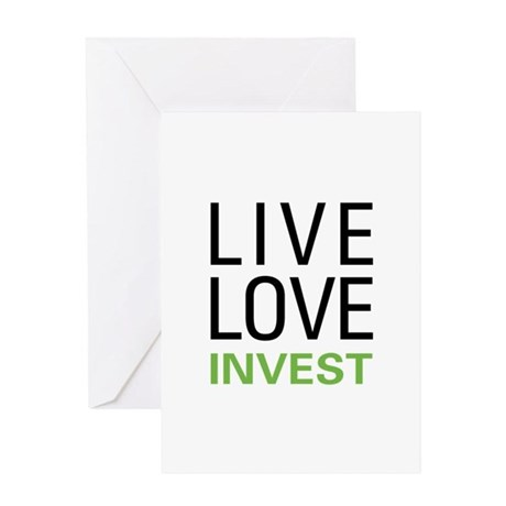 Live Love Invest Greeting Card