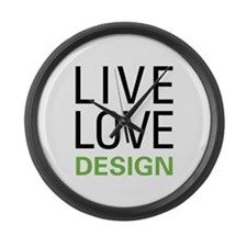 Live Love Design Large Wall Clock