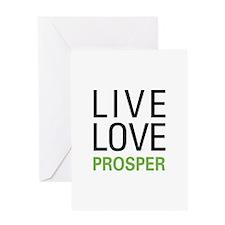 Live Love Prosper Greeting Card