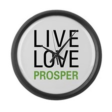 Live Love Prosper Large Wall Clock