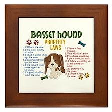 Basset Hound Property Laws 4 Framed Tile