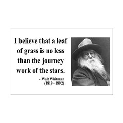 Walt Whitman 19 Mini Poster Print