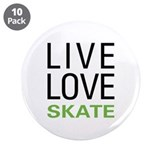 "Live Love Skate 3.5"" Button (10 pack)"
