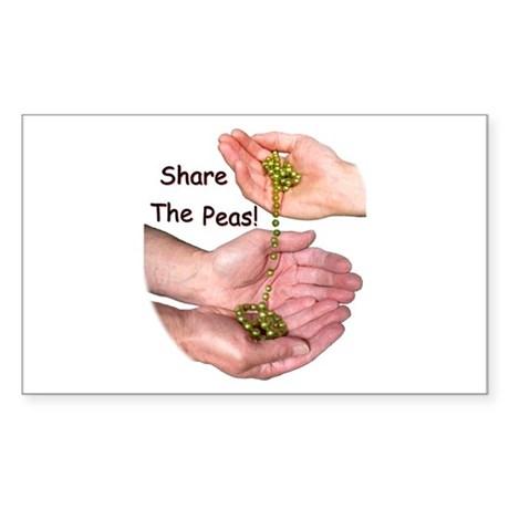 Share The Peas Rectangle Sticker