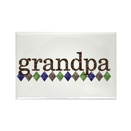 grandpa t-shirts grunge style Rectangle Magnet