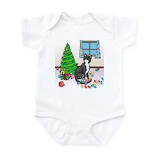Christmas Tuxedo Cat Infant Bodysuit