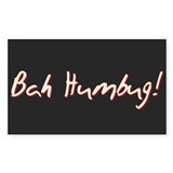 Bah Humbug Christmas Rectangle Sticker 50 pk)