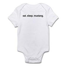 eat sleep mustang copy Body Suit