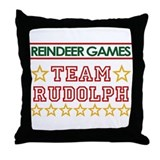 Team Rudolph Throw Pillow