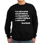 Churchill Maker Quote Sweatshirt (dark)