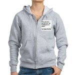 MacArthur Live or Die Quote Women's Zip Hoodie