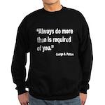 Patton Do More Quote Sweatshirt (dark)