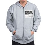 Patton Ingenuity Quote Zip Hoodie