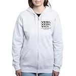 Veni Vedi Vici Caesar Quote Women's Zip Hoodie