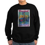 Careless Work Warning Poster Sweatshirt (dark)