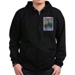 Careless Work Warning Poster Zip Hoodie (dark)