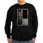 Books Wanted Poster Art Sweatshirt (dark)