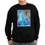 Comic Pants Down Humor Sweatshirt (dark)