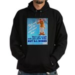 Comic Pants Down Humor Hoodie (dark)