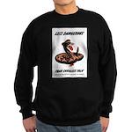 Dangerous Rattlesnake Poster Sweatshirt (dark)