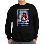 Don't Shiver Winter Poster Ar Sweatshirt (dark)