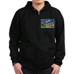 Camp Davis North Carolina Zip Hoodie (dark)