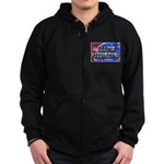 Camp Livingston Louisiana Zip Hoodie (dark)