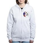 Go Navy Women's Zip Hoodie