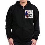 Remember Our Veterans Zip Hoodie (dark)
