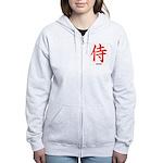 Japanese Samurai Kanji Women's Zip Hoodie