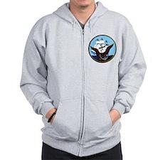 Military Sealift Command Logo Zip Hoodie