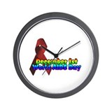 world AIDS day 1 Wall Clock