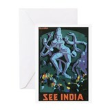 Ellora India Greeting Card
