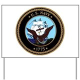 US Navy Logo Yard Sign