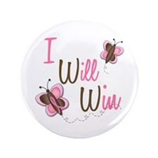 """I Will Win 1 Butterfly 2 BreC 3.5"""" Button"""