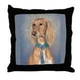 Saluki (Red) Throw Pillow