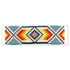 Beaded Tribal Band 2 Bumper Bumper Sticker