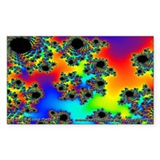 Fractal R~10 Rectangle Sticker (10 pack)