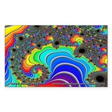 Fractal R~16 Rectangle Sticker (10 pack)