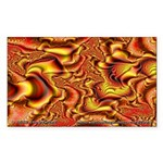 Fractal C~01 Rectangle Sticker (10 pack)