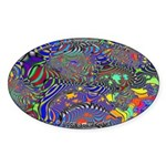 Fractal C~13 Oval Sticker (10 pack)