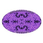 Fractal FS~01 Oval Sticker (10 pack)